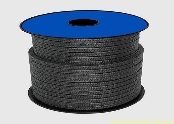 中国 シーリング材料/グラファイト腺パッキング ロープのための黒いテフロン PTFE パッキング 代理店
